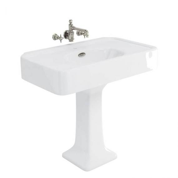 Arcade 900mm Basin With Pedestal - 0 Tap Holes
