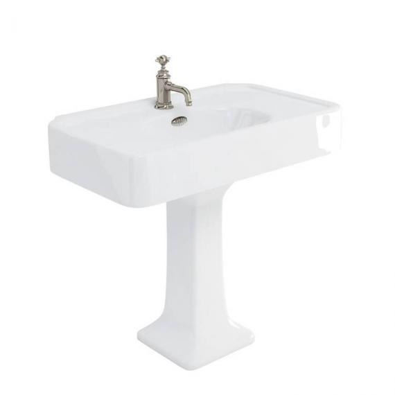 Arcade 900mm Basin With Pedestal - 1 Tap Holes