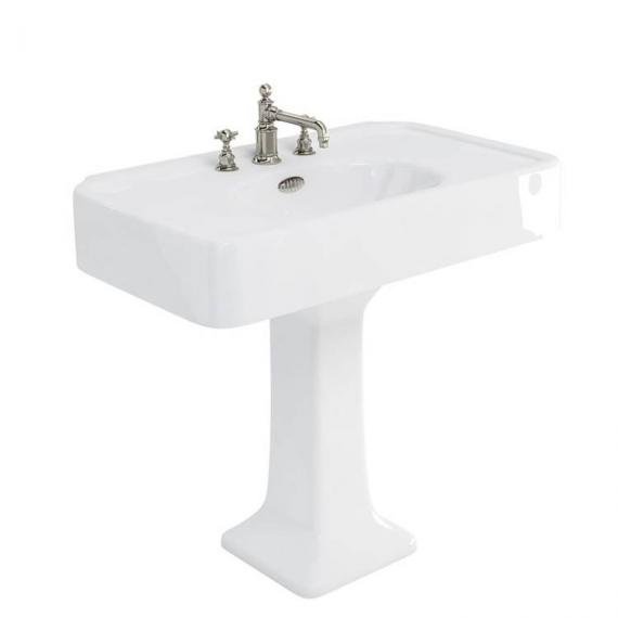 Arcade 900mm Basin With Pedestal - 3 Tap Holes
