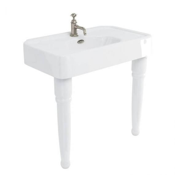Arcade Console 900mm Basin With Ceramic Legs - 1 Tap Hole