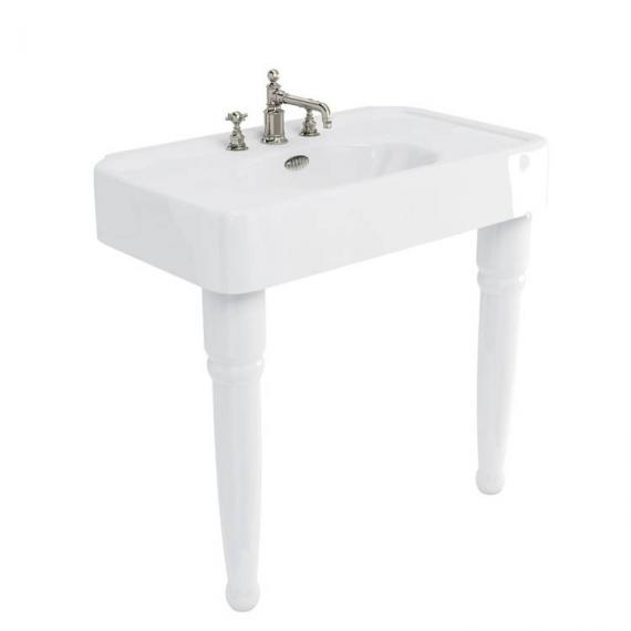 Arcade Console 900mm Basin With Ceramic Legs - 3 Tap Holes