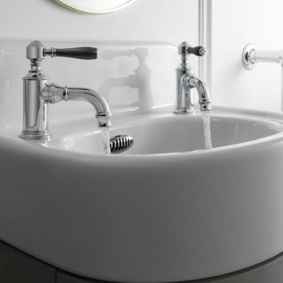 Arcade Chrome Cloakroom Basin Taps With Black, Chrome Or White Lever Handles
