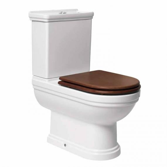Aristo Close Coupled Traditional Toilet With Walnut Seat