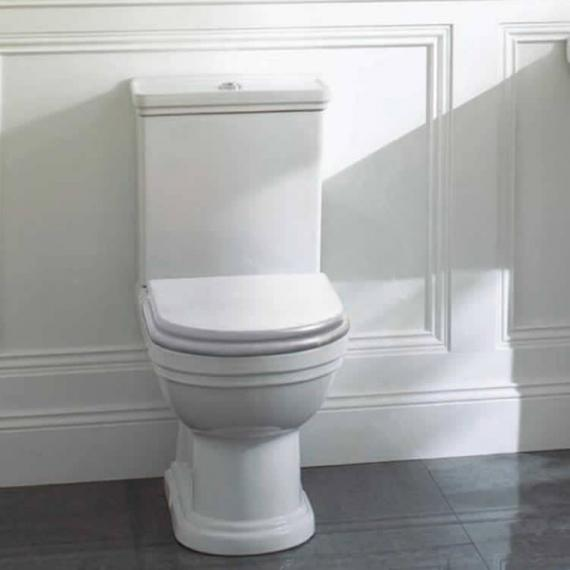 Aristo Close Coupled Traditional Toilet With White Seat