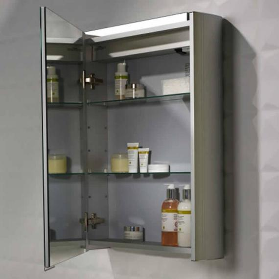 Roper Rhodes Touch Aluminium Mirror Cabinet With Heated Demister - Image 2