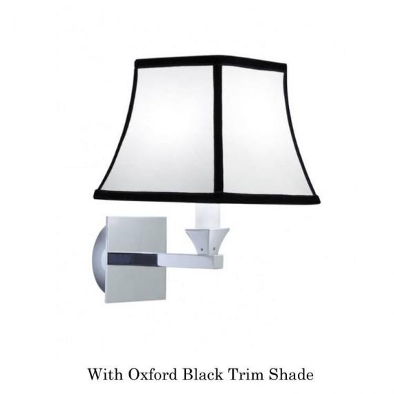 mperial Astoria Wall Light With Oxford Black Trim Shade