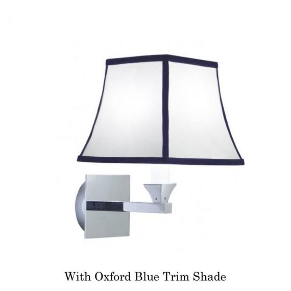 mperial Astoria Wall Light With Oxford Blue Trim Shade