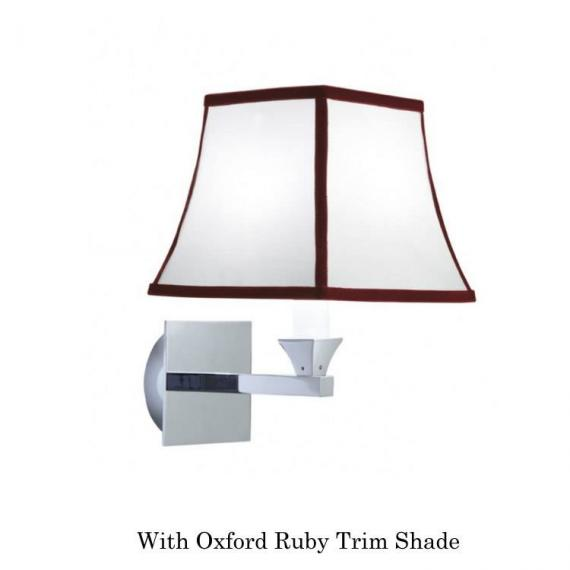 mperial Astoria Wall Light With Oxford Ruby Trim Shade