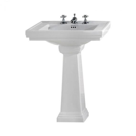 Imperial Astoria Deco Large Basin and Pedestal