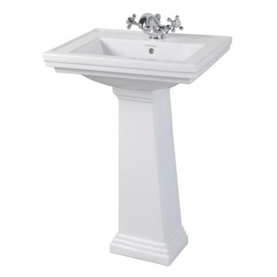 Imperial Astoria Deco Small Basin and Pedestal