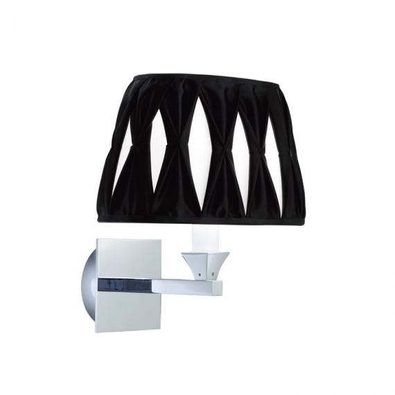 Imperial Astoria Wall Light With Oval Thick Pleated Silk Shade
