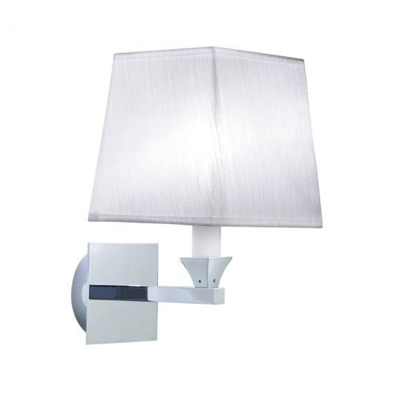 Imperial Astoria Wall Light With White Fabric Shade