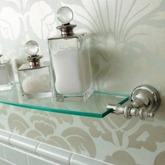 Imperial Avignon 75cm Wall Mounted Glass Shelf