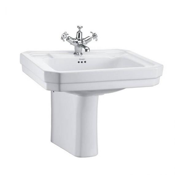 Burlington Contemporary Medium 58cm Basin & Semi Pedestal