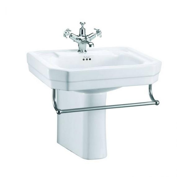 Burlington Victorian Medium 56cm Basin, Semi Pedestal & Optional Towel Rail