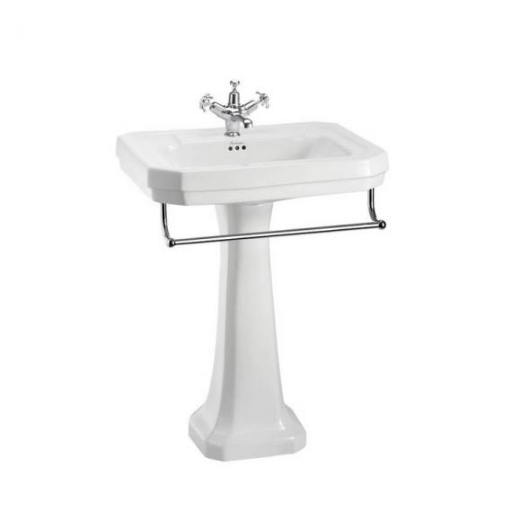 Burlington Victorian Large 61cm Basin, Pedestal & Optional Towel Rail