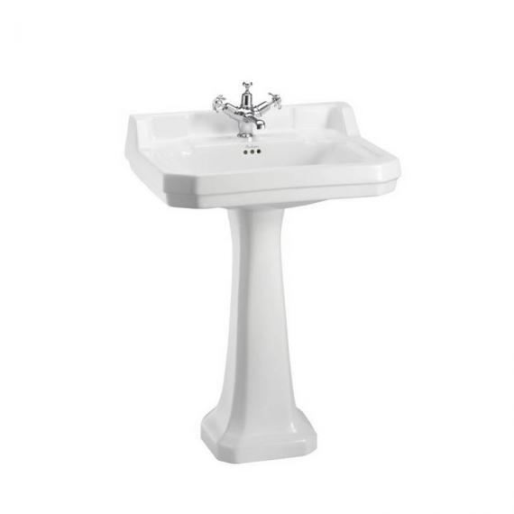 Burlington Edwardian Large 61cm Basin With Pedestal With Optional Towel Rail - Image 2