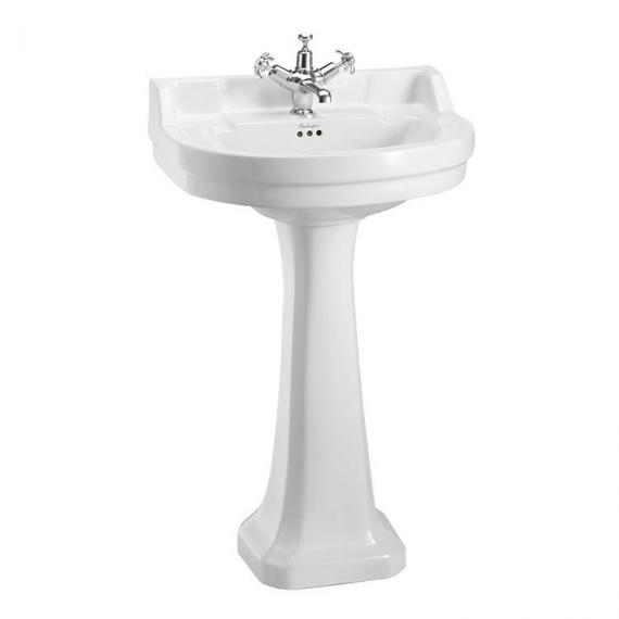 Burlington Edwardian Round Regal Medium 56cm Basin & Pedestal