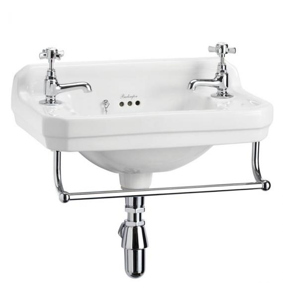 Burlington Edwardian Wall Mounted Cloakroom Basin with optional towel rail