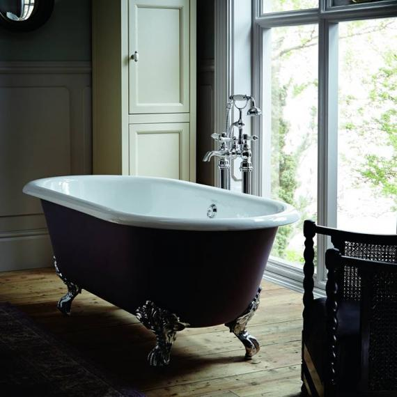 Heritage Baby Buckingham Freestanding Cast Iron Roll Top Bath With ...