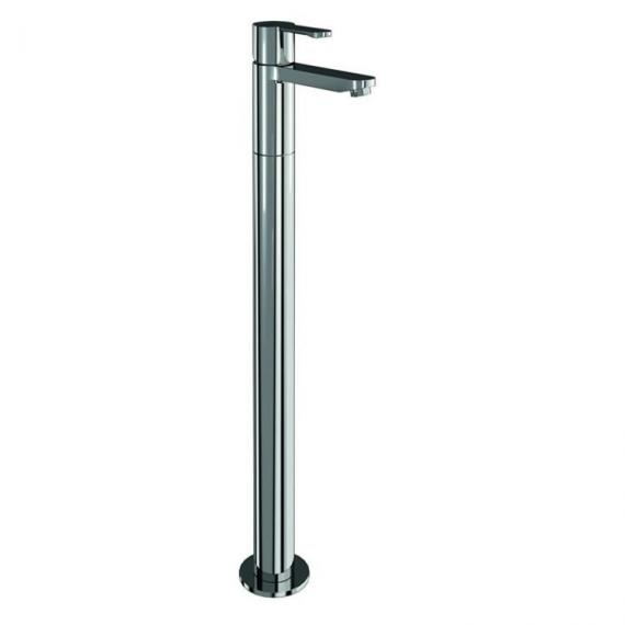 Crystal Single Lever Bath Filler With Floor Mounted Legs