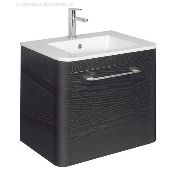 Bauhaus Celeste 600mm Black Ash Vanity Unit & Ceramic Basin