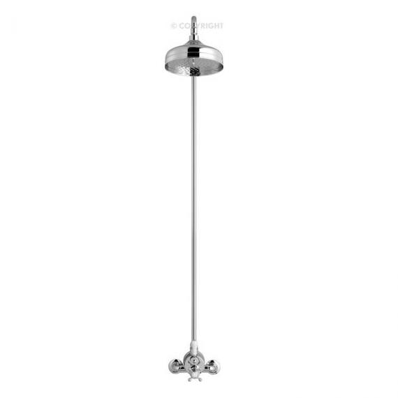 Crosswater Belgravia Compact Thermostatic Shower Valve With Fixed Head