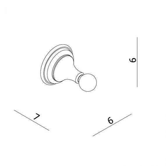 Crosswater Belgravia Robe Hook Specification
