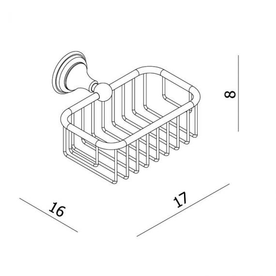 Crosswater Belgravia Soap Basket Specification