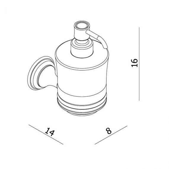 Crosswater Belgravia Soap Dispenser Specification