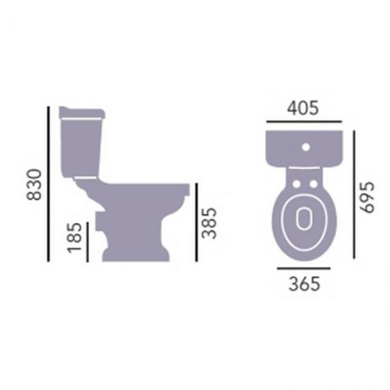 Heritage Belmonte Close Coupled WC & Portrait Cistern Specification