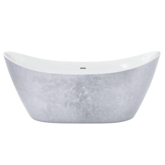 Heritage Hylton Stainless Steel Effect Freestanding Acrylic Bath