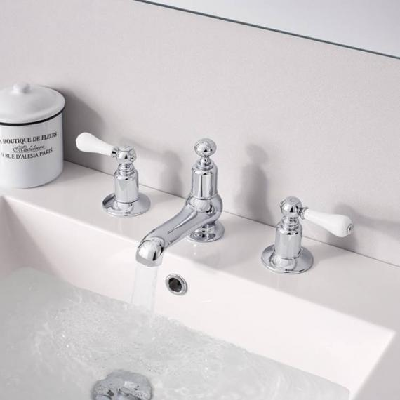 Crosswater Belgravia Lever Basin 3 Hole Set