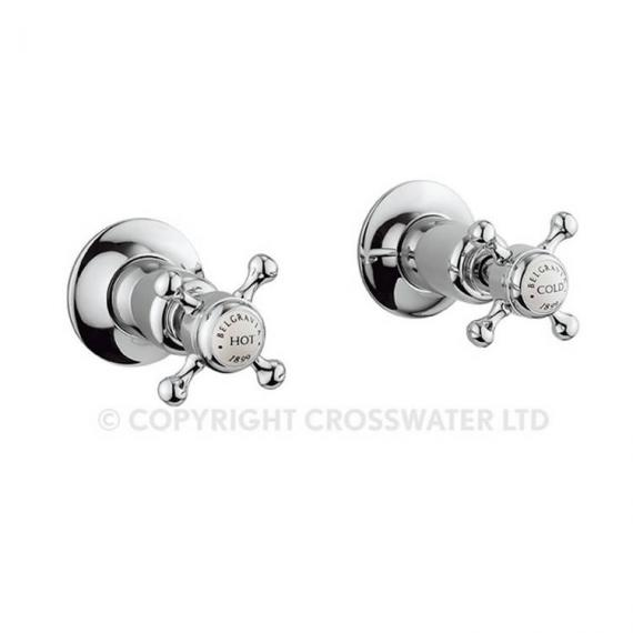 Crosswater Belgravia Lever Wall Mounted Bath 3 Hole Set