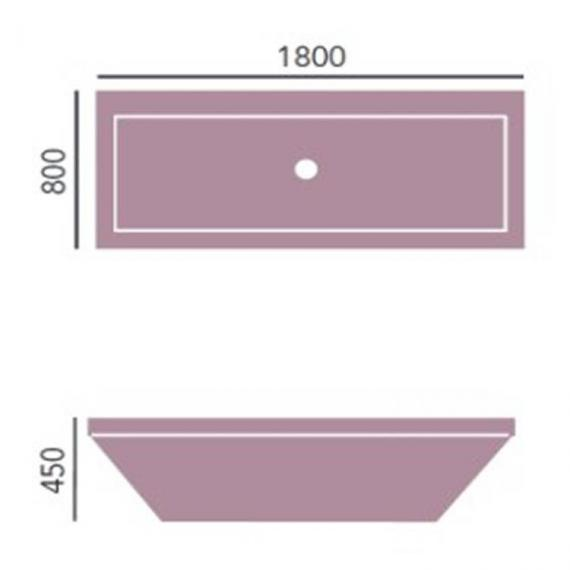 Heritage Blenheim Double Ended Acrylic Bath - 1800 x 800mm