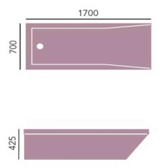 Heritage Blenheim Single Ended Acrylic Bath - 1700 x 700mm Specification
