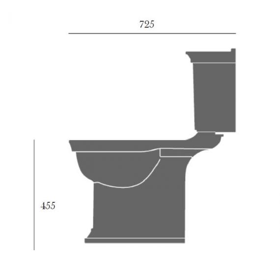 Heritage Blenheim Comfort Height Close Coupled WC & Cistern Specification