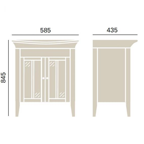 Heritage Hidcote Oak Vanity Unit & Blenheim Basin Specification