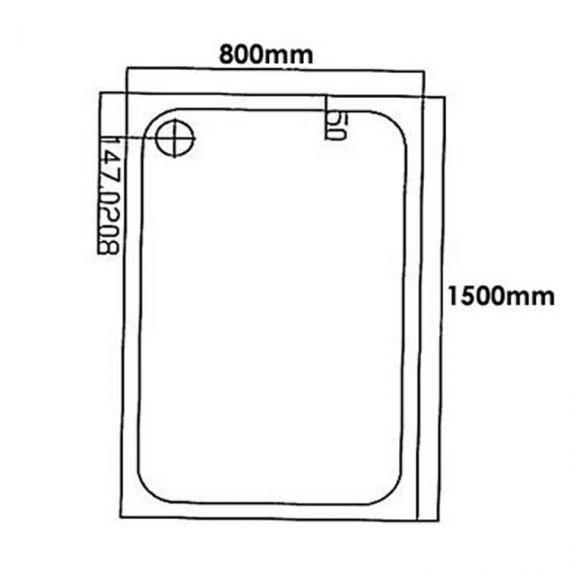 Blu-Gem2 1500mm x 800mm Rectangle Shower Tray & Waste Specification