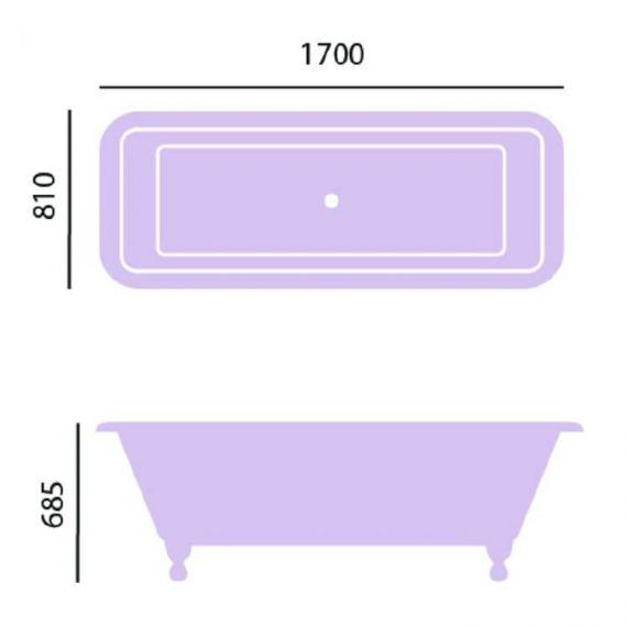 Heritage Dorset Freestanding Cast Iron Double Ended Bath Specification