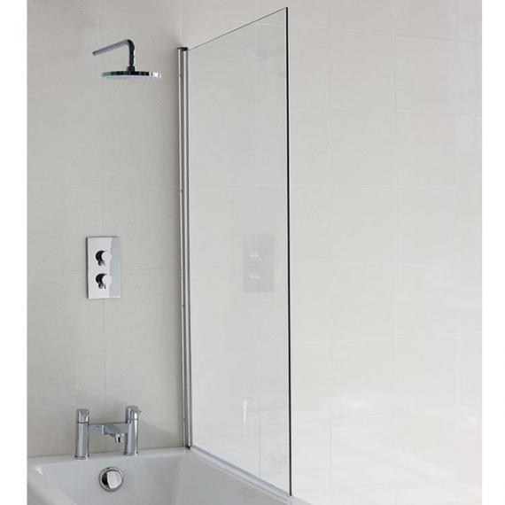 Britton Cleargreen Single Panel Bath Screen