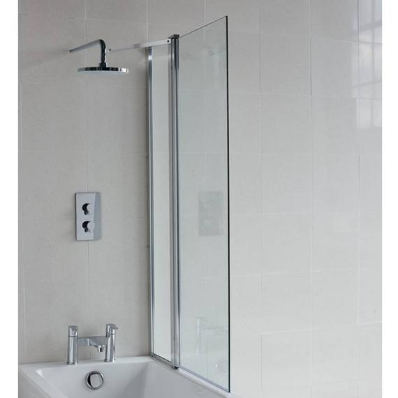 Britton Cleargreen Bath Screen With Fixed Panel