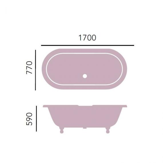 Heritage Buckingham Freestanding Cast Iron Roll Top Bath Specification