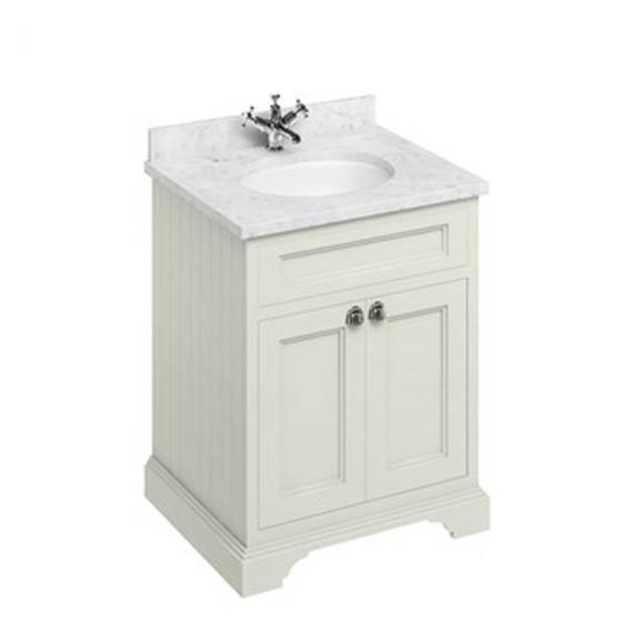 Burlington Sand 670mm Freestanding Vanity Unit With Minerva Worktop & Basin - Image 3