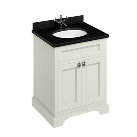 Burlington Sand 670mm Freestanding Vanity Unit With Minerva Worktop & Basin - Image 5