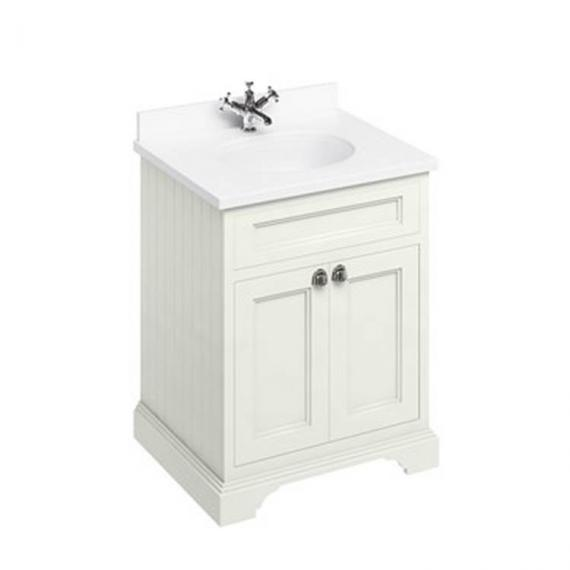 Burlington Sand 670mm Freestanding Vanity Unit With Minerva Worktop & Basin