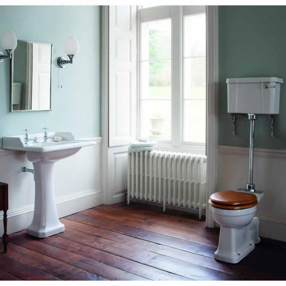 Burlington Classic Basin & Medium Level Toilet Set