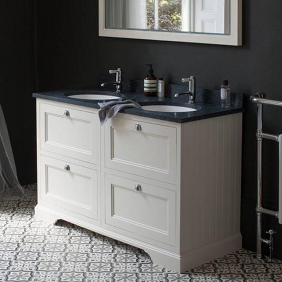 Burlington Sand 1300mm Double Vanity Unit With Drawers, Worktop & Basin