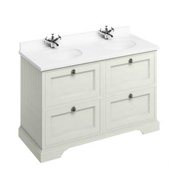 Burlington Sand 1300mm Double Vanity Unit With Drawers, Worktop & Basin - Image 3
