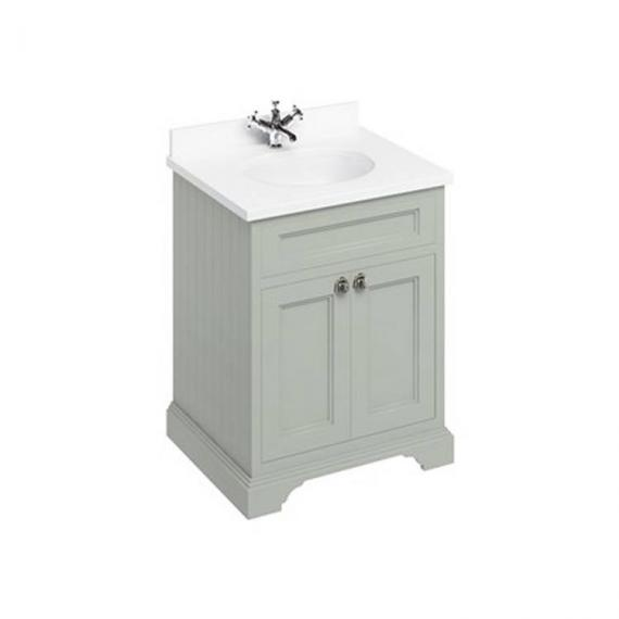 Burlington Olive 670mm Freestanding Vanity Unit With Minerva Worktop & Basin  - Image 4